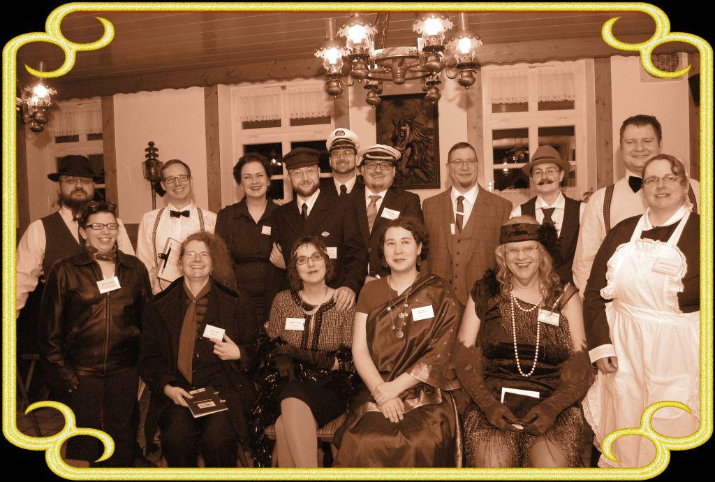 Die Crew und Passagiere des Graf Zeppelin